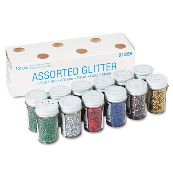 Spectra Glitter, .04 Hexagon Crystals, Assorted, .75 Oz Shaker-top Jar, 12/pack
