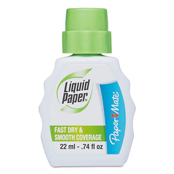 Fast Dry Correction Fluid, 22 Ml Bottle, White, 1/dozen