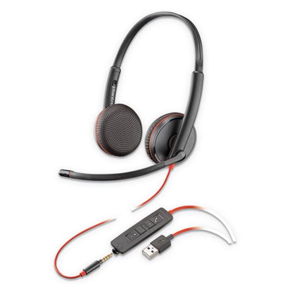 Blackwire 3225, Binaural, Over The Head Headset