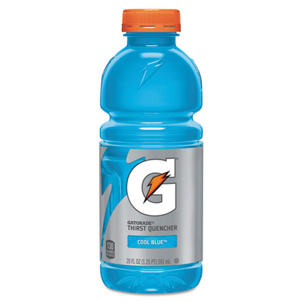 G-series Perform 02 Thirst Quencher, Cool Blue, 20 Oz Bottle, 24/carton