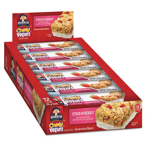 Chewy Yogurt Granola Bars, 1.23 Oz Bar, Strawberry, 12/box