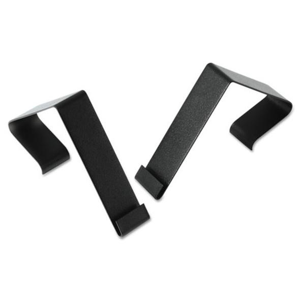 """Cubicle Partition Hangers, 1 1/2"""" - 2 1/2"""" Panels, Black, 2/set"""