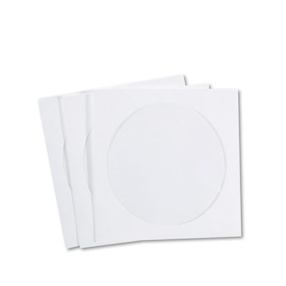 Cd/dvd Sleeves, Moisture-resistant Tyvek Material, 100/box