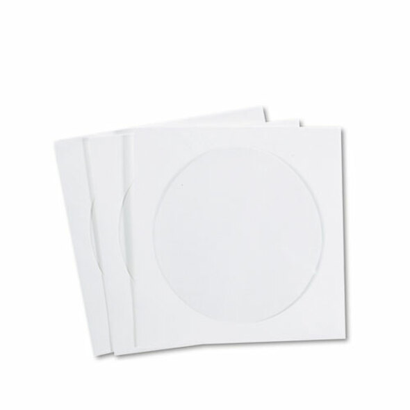 Cd/dvd Sleeves, Moisture-resistant Tyvek Material, 100/box