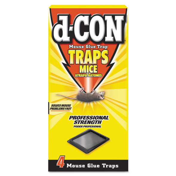 Mouse Glue Trap, Plastic, 4 Traps/box, 12 Boxes/carton