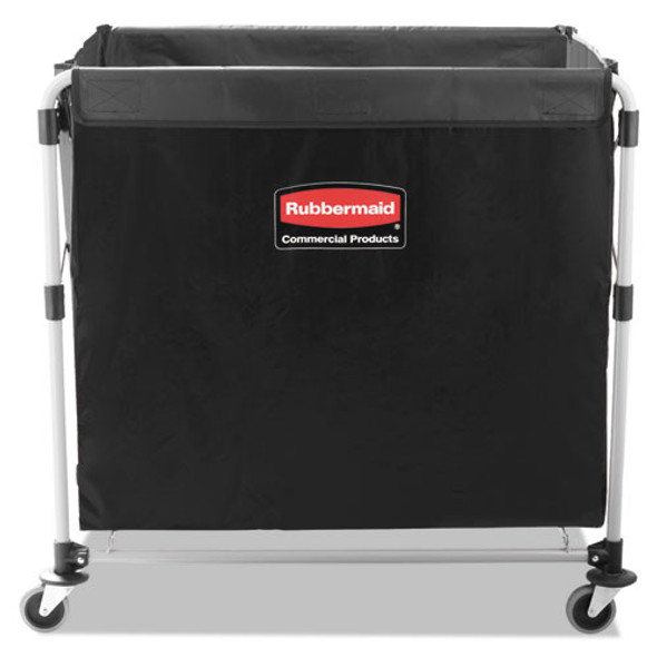 Collapsible X-cart, Steel, Eight Bushel Cart, 24.1w X 35.7d X 34h, Black/silver