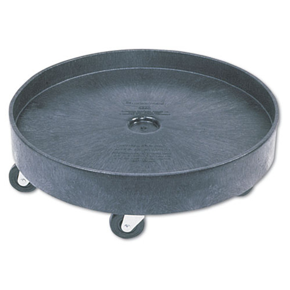 Brute Container Universal Drum Dolly, 500 Lb Capacity, 24.38 X 7.13, Black