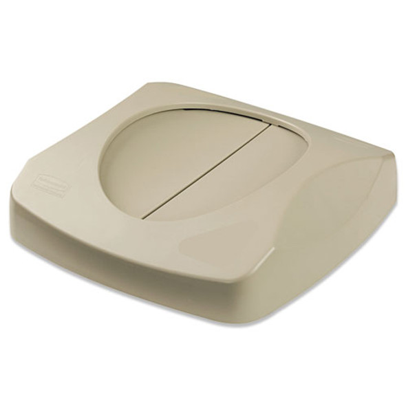 """Swing Top Lid For Untouchable Recycling Center, 16"""" Square, Beige"""