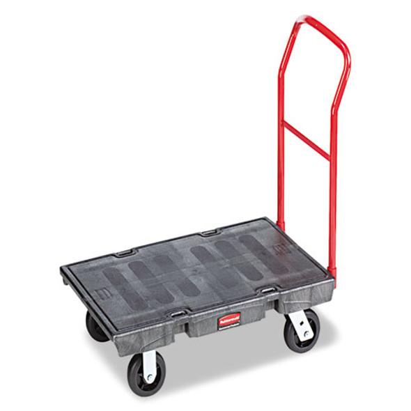 Heavy-duty Platform Truck Cart, 2,000 Lb Capacity, 24 X 48 Platform, Black