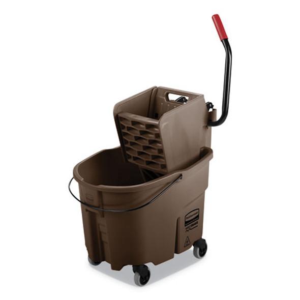 Wavebrake 2.0 Bucket/wringer Combos, Side-press, 35 Qt, Plastic, Brown