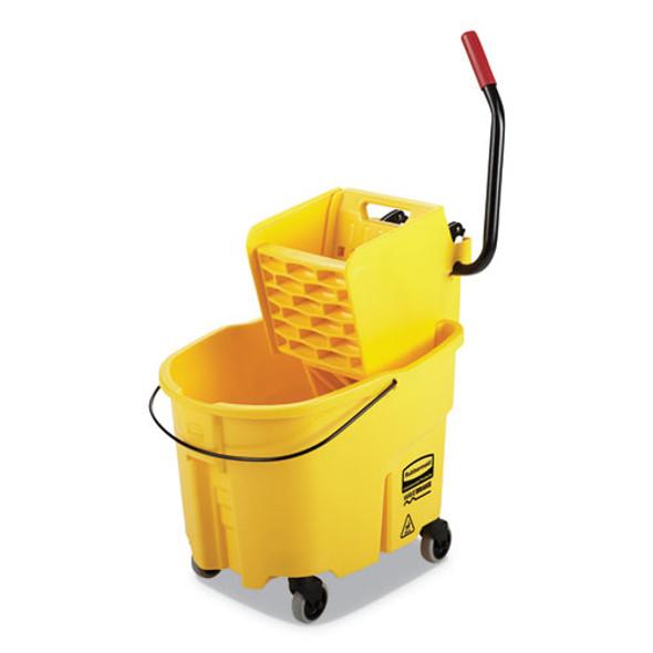 Wavebrake 2.0 Bucket/wringer Combos, Side-press, 35 Qt, Plastic, Yellow