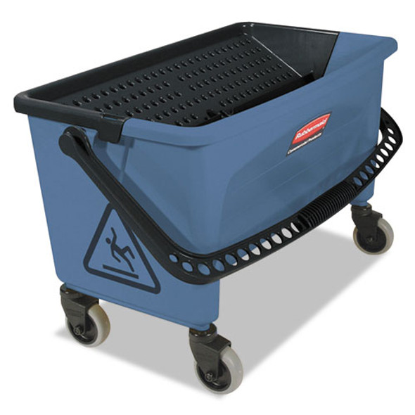 Microfiber Finish Bucket, With Lid, 3 Gal, Blue