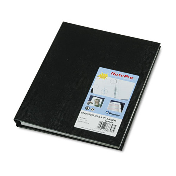 Notepro Undated Daily Planner, 9-1/4 X 7-1/4, Black