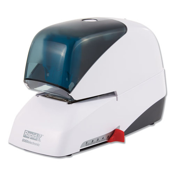 5050e Professional Electric Stapler, 60-sheet Capacity, White