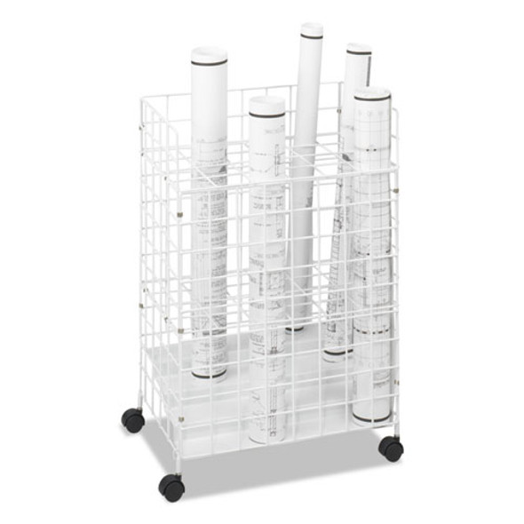 Wire Roll Files, 24 Compartments, 21w X 14.25d X 31.75h, White
