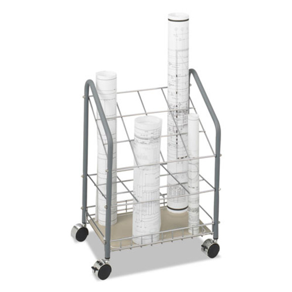 Wire Roll/files, 12 Compartments, 18w X 12.75d X 24.5h, Gray