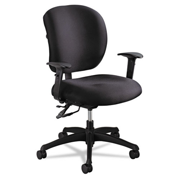 Alday Intensive-use Chair, Supports Up To 500 Lbs., Black Seat/black Back, Black Base - IVSSAF3391BL