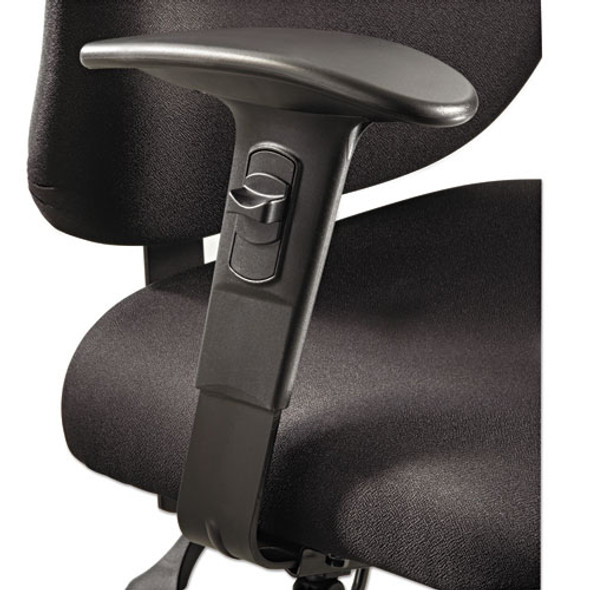 Height/width-adjustable T-pad Arms For Alday 24/7 Task Chair, 3.5w X 10.5d X 14h, Black, 1 Pair