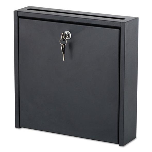 Wall-mountable Interoffice Mailbox, 12w X 3d X 12h, Black
