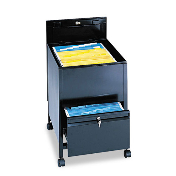 Locking Mobile Tub File With Drawer, Legal Size, 20w X 25.5d X 27.75h, Black