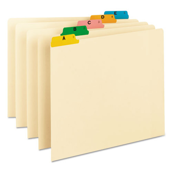 Alphabetic Top Tab Indexed File Guide Set, 1/5-cut Top Tab, A To Z, 8.5 X 11, Manila, 25/set - IVSSMD50180