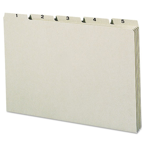 100% Recycled Daily Top Tab File Guide Set, 1/5-cut Top Tab, 1 To 31, 8.5 X 14, Green, 31/set