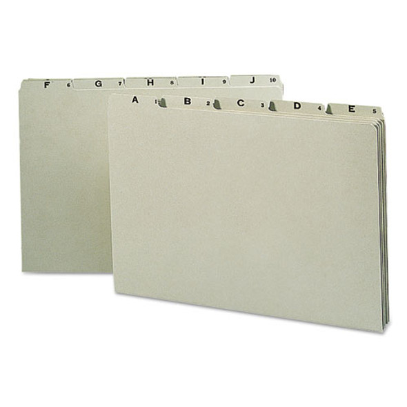Alphabetic Top Tab Indexed File Guide Set, 1/5-cut Top Tab, A To Z, 8.5 X 14, Green, 25/set