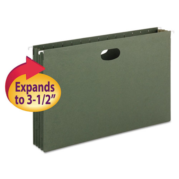 Hanging Pockets With Full-height Gusset, Legal Size, Standard Green, 10/box