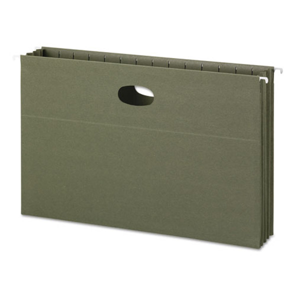 100% Recycled Hanging Pockets With Full-height Gusset, Legal Size, Standard Green, 10/box