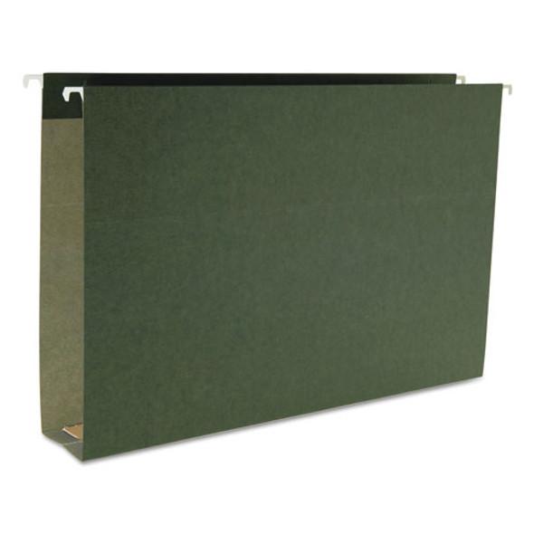Box Bottom Hanging File Folders, Legal Size, Standard Green, 25/box - IVSSMD64359