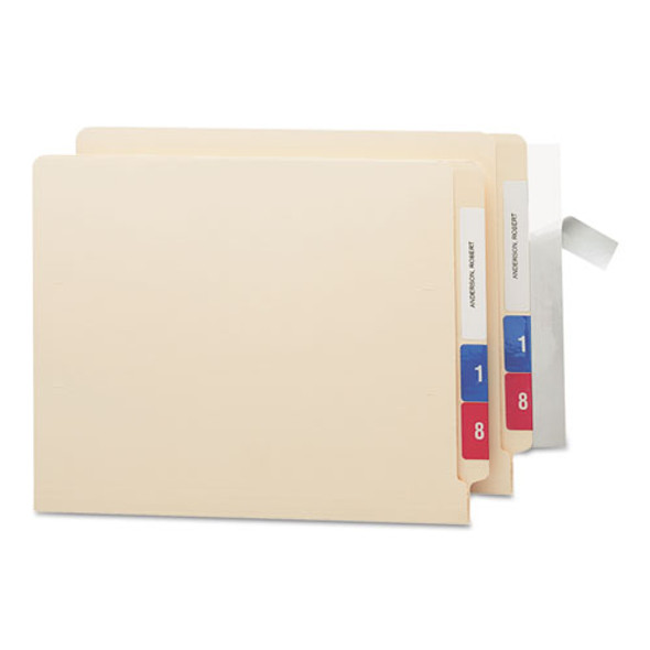 Seal & View File Folder Label Protector, Clear Laminate, 8 X 1-11/16, 100/pack