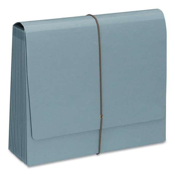 100% Recycled Colored Expanding Files, 12 Sections, 1/12-cut Tab, Letter Size, Blue Moon