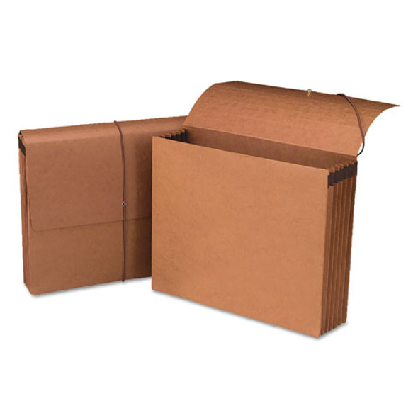 """100% Recycled Redrope Wallets, 5.25"""" Expansion, 1 Section, Letter Size, Redrope, 10/box"""