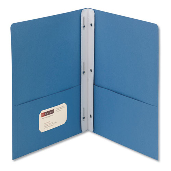 "2-pocket Folder W/tang Fastener, Letter, 1/2"" Cap, Blue, 25/box"
