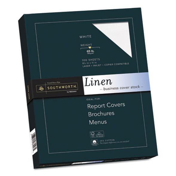 25% Cotton Linen Cover Stock, 65lb, 8.5 X 11, 100/pack