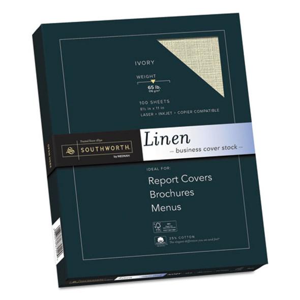 25% Cotton Linen Cover Stock, 65lb, 8.5 X 11, 100/pack - IVSSOUZ560CK