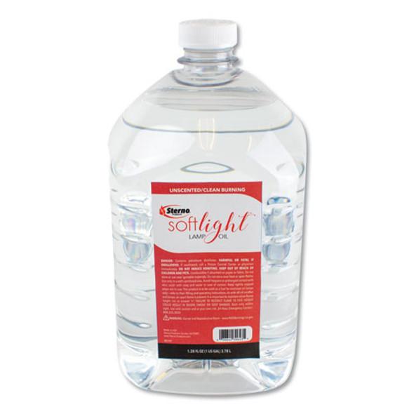 Soft Light Liquid Wax Lamp Oil, Clear, Gallon, 4 Per Carton