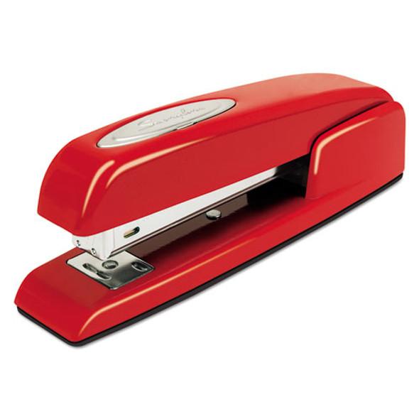 747 Business Full Strip Desk Stapler, 25-sheet Capacity, Rio Red