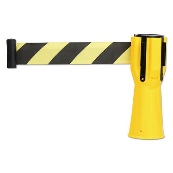 "Safety Cone Topper Belt, 3 1/2"" X 9 Ft, Yellow/black, Plastic/nylon"
