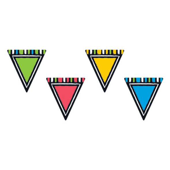"""Bold Strokes Classic Accents Variety Pack, Pennants, Assorted, 6"""" X 7.88"""""""