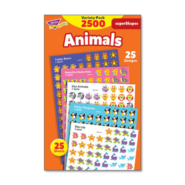 Superspots And Supershapes Sticker Packs, Animal Antics, Assorted, 2500 Stickers