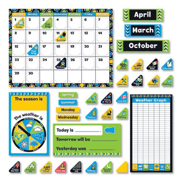 "Bold Strokes Calendar Bulletin Board Set, Assorted, 18 1/4"" X 31"""