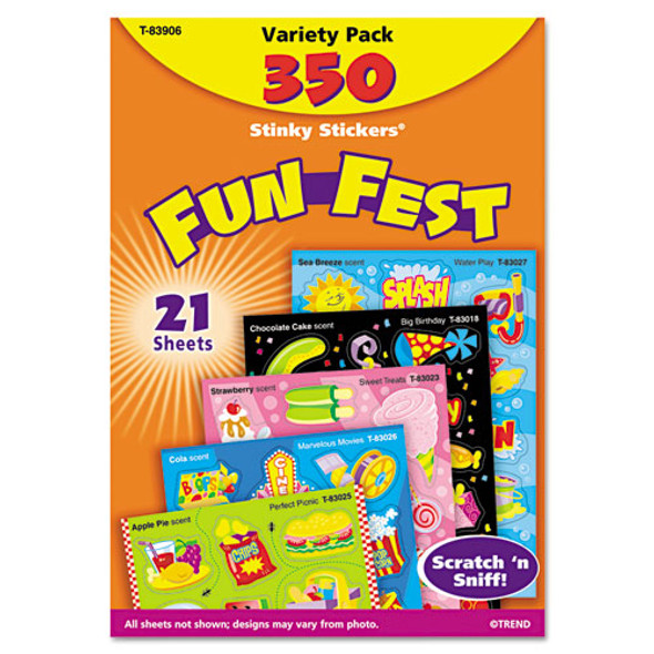 Stinky Stickers Variety Pack, Mixed Shapes, 350/pack