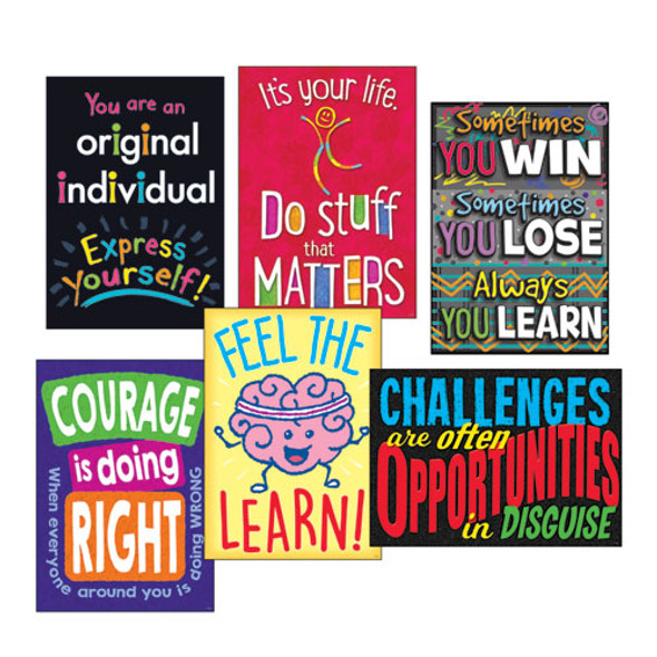 """Argus Poster Combo Pack, """"life Lessons"""", 13 3/8w X 19h"""