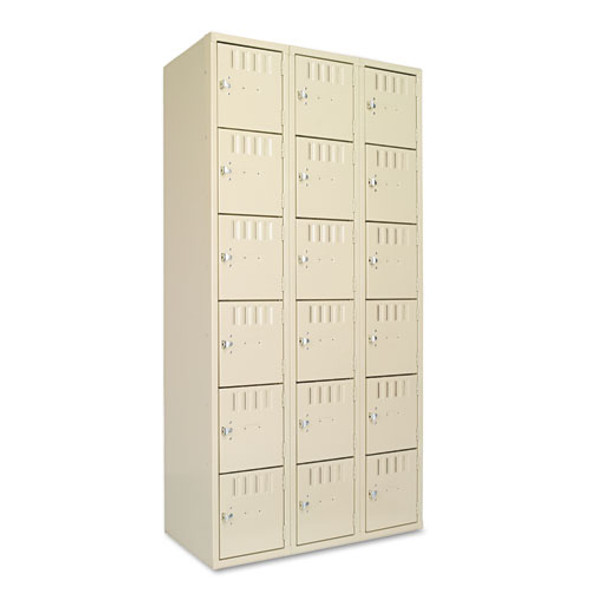 Box Compartments, Triple Stack, 36w X 18d X 72h, Sand