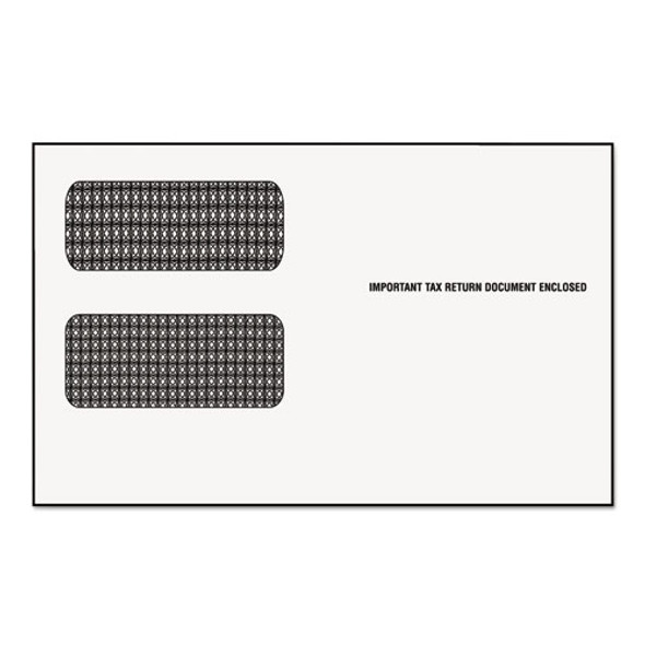 1099 Double Window Envelope, Commercial Flap, Gummed Closure, 5.63 X 9, White, 24/pack