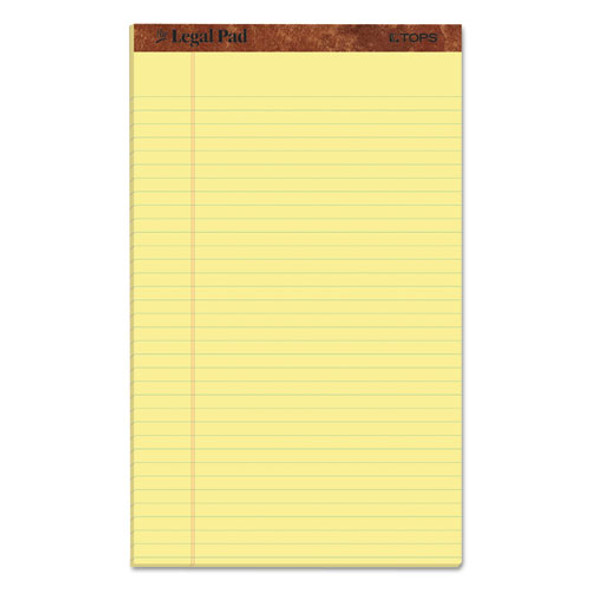 """""""the Legal Pad"""" Perforated Pads, Wide/legal Rule, 8.5 X 14, Canary, 50 Sheets, Dozen"""