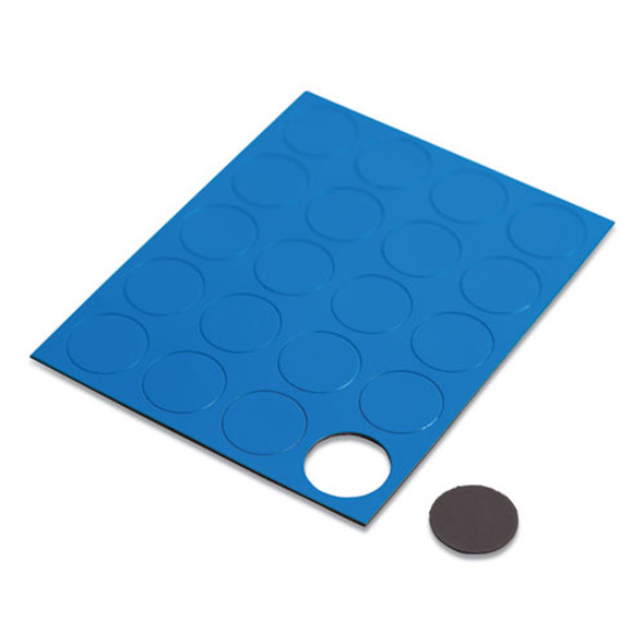 "Heavy-duty Board Magnets, Circles, Blue, 0.75"", 20/pack"