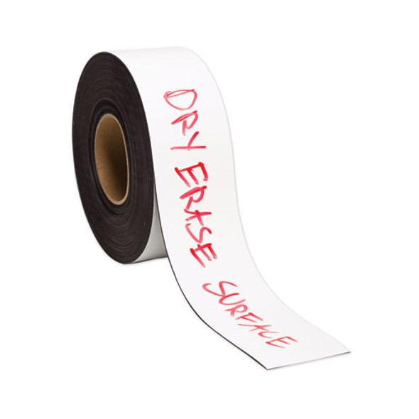 "Dry Erase Magnetic Tape Roll, 3"" X 50 Ft, White, 1/roll"
