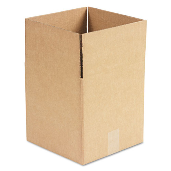 """Cubed Fixed-depth Shipping Boxes, Regular Slotted Container (rsc), 10"""" X 10"""" X 10"""", Brown Kraft, 25/bundle"""